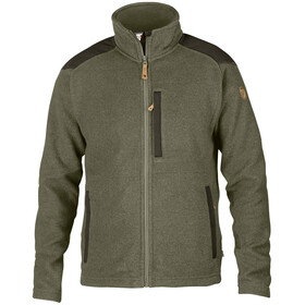 Fjällräven Buck Fleece Jas Heren, laurel green-deep forest